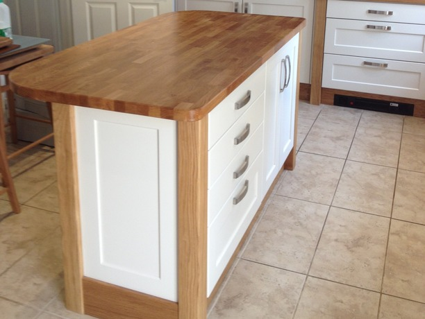 Island with timber worktop