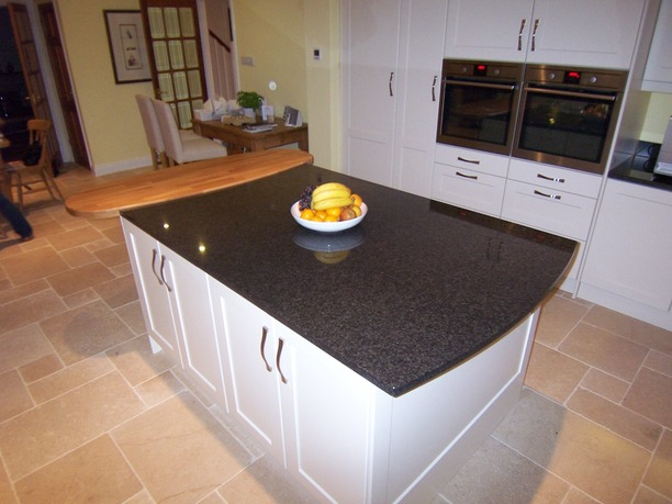 Shaker island with granite and timber top