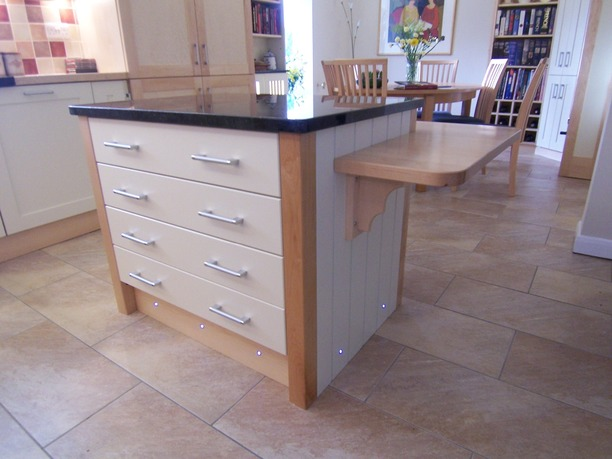Kitchen island with low level bar