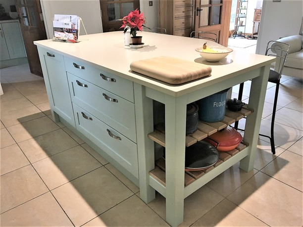 Bespoke island unit with seating
