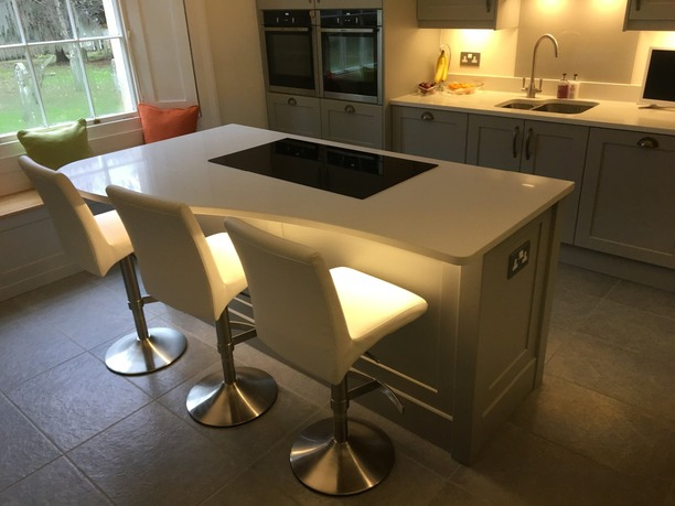 Bespoke island unit with hob