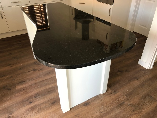 Hand-made kitchen island