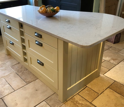 Shaker island with drawers