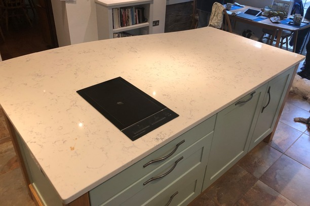 Shaker island with induction hob